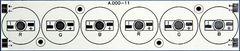 Плата 156x34-6E 2R-2G-2B Emitter (6x, 000-11)