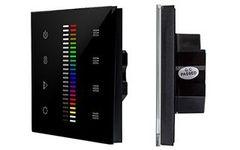Панель Sens SR-2830C1-AC-RF-IN Black (220V,RGB+DIM,4зоны)