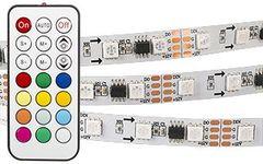 Лента SPI-5000-IR21B 12V RGB (5060,300 LED x3,1804, ПДУ)