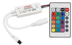 Контроллер LN-WIFI-IR24B-2 (12-24V, 72-144W, ПДУ 24кн, RGB)