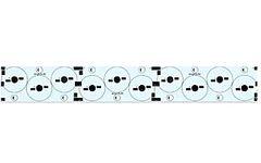 Плата 240x34-10Е Emitter (3x3x4 LED, SL80)