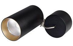 Светильник подвесной SP-POLO-R85-2-15W Warm White 40deg (Black, Gold Ring)
