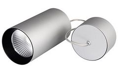 Светильник подвесной SP-POLO-R85-2-15W Warm White 40deg (Silver, Black Ring)