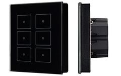 Панель Sens SR-KN0611-IN Black (KNX, DIM)