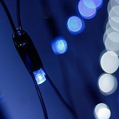 Светодиодная гирлянда ARD-NETLIGHT-CLASSIC-2500x2500-BLACK-432LED White/Blue (230V, 26W)